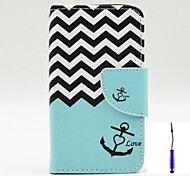 The Sea Waves Pattern PU Leather Case Cover with A Touch Pen ,Stand and Card Holder for Nokia Lumia 530