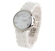 Daybird 3870 Cool Skull Design Women's Ceramics Band Quartz Wrist Watch