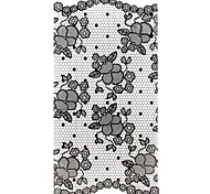 1PC 3D Full Fashion Nail Art Stickers Nail Wraps Black lace Nail Decals Flower Nail Polish Decorations