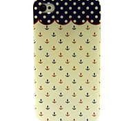 Red And Blue Small Rivets Pattern TPU Soft Case for iPhone 4/4S