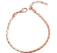 Chaînes & Bracelets ( Cuivre / Plaqué Or Rose ) Mariage / Soirée / Quotidien
