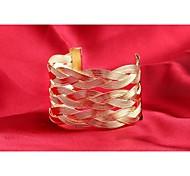 Fashion Punk Style Gold Alloy Cuff Bracelets(1pc)