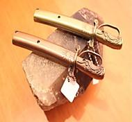 Creative Officer's Sword Metal Windproof Butane Lighter Bronze Brown Gray