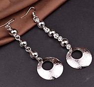 2015 Fashion Simple Baroque Frosted Surface Lady Long Earrings