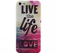 Life Pattern Soft TPU Case for iPhone 5/5S