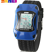 SKMEI® Kids' Racing Car Style Sporty Wristwatch Japanese Quartz Digital LCD Screen Silicone Band