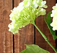 Two Head Light Green Hyfrangeas Artifical Flowers Set 3