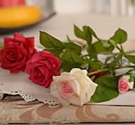 "13.8 ""l conjunto de um romântico rosas de seda flores de pano"