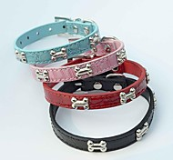 Red/Black/Blue/Pink Retractable/Cosplay Metal/PU Leather Collars For Dogs/Cats