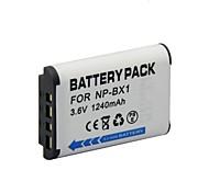 Batería NP-BX1 - Li-ion - for  Sony Cyber-shot DSC-RX100, DSC-RX100/B Digital Camera - 3.6V - V - 1240mAh - ( mAh )