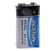 BESTON 6F22 9V Extra Heavy Duty Cell Battery (1PCS)