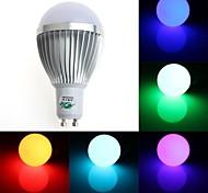 Zweihnde GU10 5 W 1 Dip LED 350-400 LM RGB G Dimmable/Remote-Controlled/Decorative Globe Bulbs AC 85-265 V