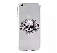 Skull Pattern Soft TPU Case for iPhone 6