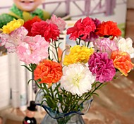 "22.4""L Set of 1 Cozy Carnations Silk Cloth Flowers"