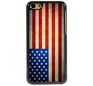 Vintage The Old Glory Design Aluminum Hard Case for iPhone 5C