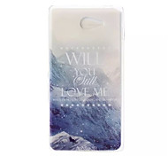 Snow Pattern Soft TPU Case for Sony Xperia M2