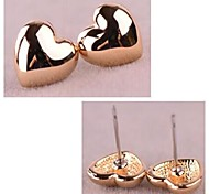 Rose Gold Lovely Heart  Alloy Earrings