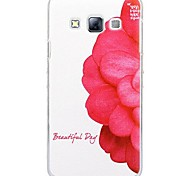 Fashion Painted Safflower PC Hard Case for Samsung Galaxy A3