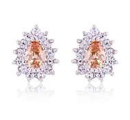 New Beauty Stud Earrings Earrings For Women With 10KT White Gold Filled 2 pcs/pair Free Shipping
