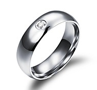 Men and Women Used Stainless Steel Diamond Ring