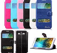 5-Zoll-Fenster-Muster PU-Mappen-Lederkasten für Samsung-Galaxie e5 / e5000 (farblich sortiert)