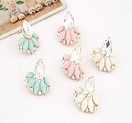 Korea OL Shinning Gem Stud Earring(1pair)(more color)