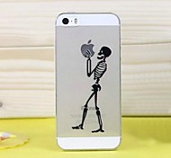High Quality Ultra-Thin Transparent Cartoon Skull TPU Soft Case for iPhone 5/5S(Assorted Colors)