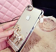 Visual Diamante/Diamond / Rhinestone Decorado Caixa - iPhone 5/iPhone 5S - Cases Cobertas com Joias ( Dourado/Prateado , ABS )