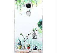 Fashion Cartoon Painted PC Back Cover for Huawei Mate7