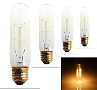 Zweihnder E27 40W 350LM 2700-3000K Edison Incandescent tungsten Warm Light Candle Light (AC 220-240V,4Pcs)