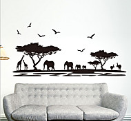 Environmental Removable  African Savannah PVC Tags & Sticker
