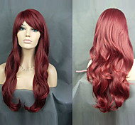 The New European And American Red Wine Fresh And Lovely Wig