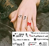 1 Pc Little Girl Cute Little Toy Plaything Tattoo Stickers Temporary Tattoos