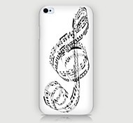 Musical Notes Pattern Back Case for iPhone4/4S