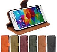Teléfono Móvil Samsung - Carcasas de Cuerpo Completo/Fundas con Soporte - Diseño Especial - para Samsung S5 i9600 Cuero PU/Piel Genuina)