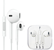 White In-Ear Headphones Headset Earphones for Samsung ,PC,CellPhone