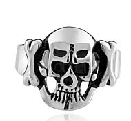 New Fashion Ring 316L Stainless Steel Rings For Men Big Skull Ring Punk Style Vintage Men Jewelry punk Skeleton Ring