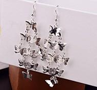 2015 Fashion Multi-Level Butterfly Long Earrings
