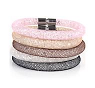 Vilam® Mesh Stardust Bracelets With Crystal stones Filled Magnetic Clasp Charm Bracelets Bling Bling