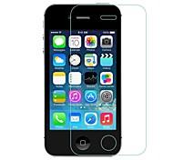 facile installazione 0,33 millimetri anti-impronte digitali con panno per la pulizia dello schermo in vetro temperato di protezione per iPhone 4 / 4S