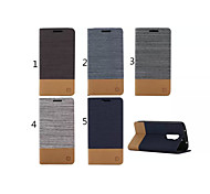 Canvas Lines Hit Color No Buckle PU Leather Full Body Case for LG G2(Assorted Color)