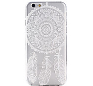 branco neve padrão coletor ideal TPU capinha capa mole com plugue anti-pó e repousar durante 6s iphone plus / 6 plus