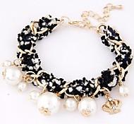 Fabric Woven Fashion Wild Temperament Pearl Bracelet