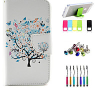 The Beauty of The Tree Pattern Full Body Case with Stylus ,Anti-Dust Plug and Stand for Motorola moto G