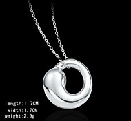Silver Plated  Fashion Circle Shape Charm Pendents