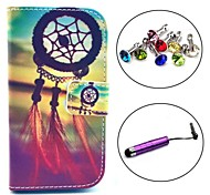 Dream Catcher Pattern PU Leather Case with Stylus and Dust Plug for Samsung Galaxy Trend Lite S7390/S7392