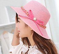 Women's Cute/Casual Summer Bowknot Straw Straw Hat