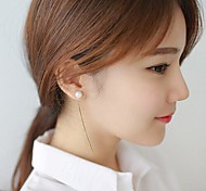 Lady Pearl Earrings Creative Fine Tassel Earrings