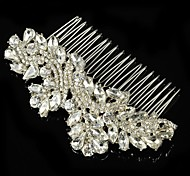 Vintage Wedding Party Bride Bridesmaid Flower Austria Crystal Silver Combs Hair Accessories