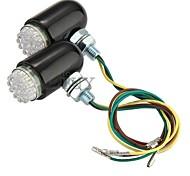 2x 24 LED Turn Signal Indicator Brake Tail Light Lamp Bulb Motorcycle Amber